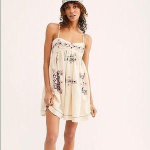 Free People S Kaleidoscope Cool Mini Dress Ivory